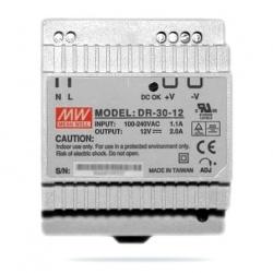 Zasilacz impulsowy na szynę DIN model DR-30-12